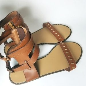 Shoes - NWOT - Faux Leather Gladiator Sandals